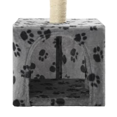vidaXL Mačje drevo s praskalniki iz sisala 55 cm sive barve s tačkami[6/6]