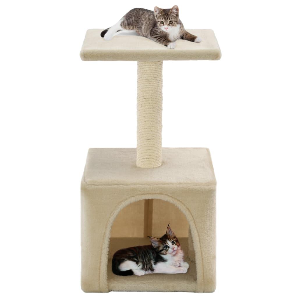 Škrabadlo pro kočky sisalové sloupky 55 cm béžové