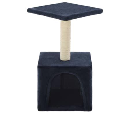 vidaXL Mačje drevo s praskalniki iz sisala 55 cm temno modre barve[3/6]