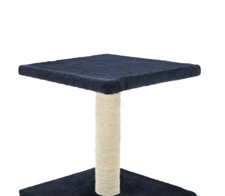 vidaXL Mačje drevo s praskalniki iz sisala 55 cm temno modre barve[5/6]