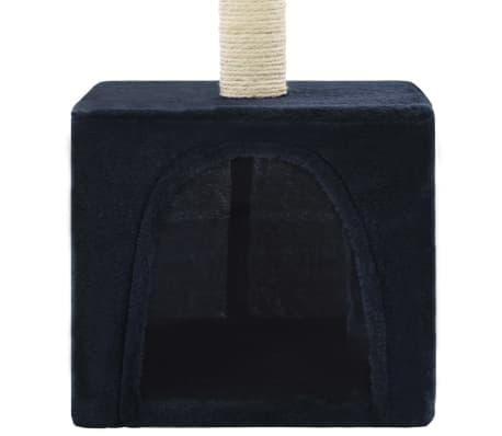 vidaXL Mačje drevo s praskalniki iz sisala 55 cm temno modre barve[6/6]