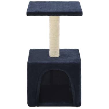vidaXL Mačje drevo s praskalniki iz sisala 55 cm temno modre barve[4/6]