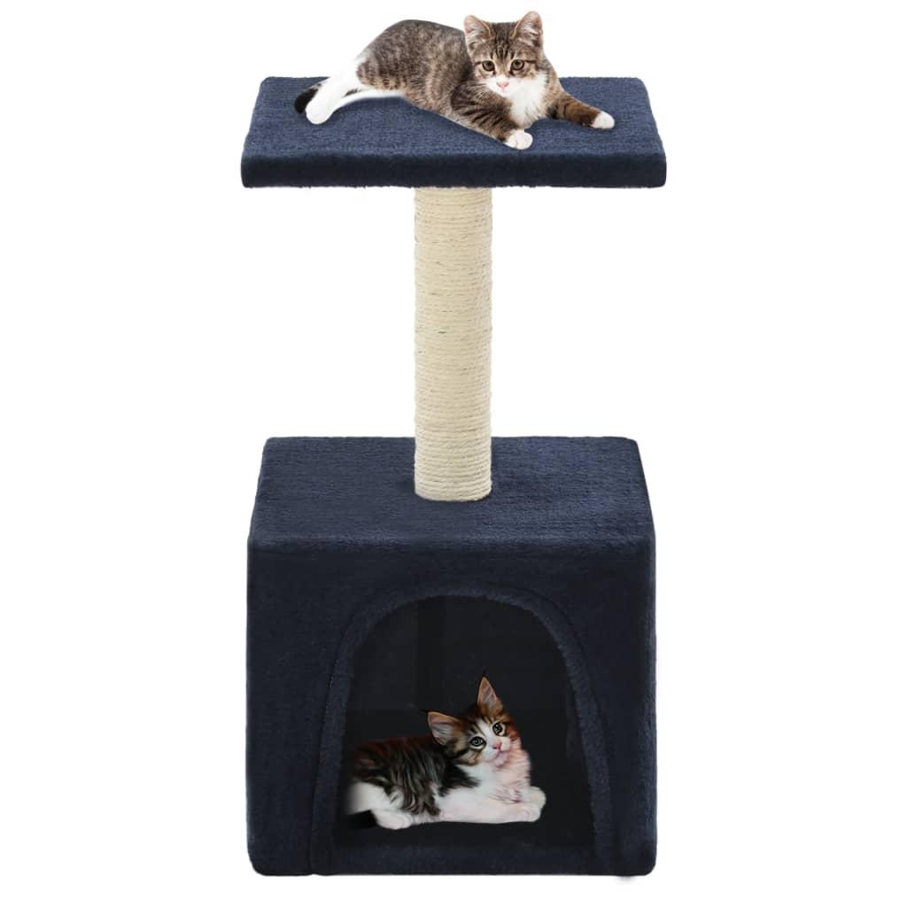 Škrabadlo pro kočky se sisalovými sloupky 55 cm tmavě modré