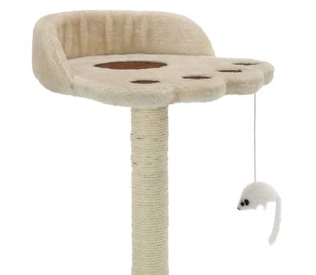 vidaXL kaķu māja, sizala stabi nagu asināšanai, 40 cm, bēša ar brūnu[3/5]
