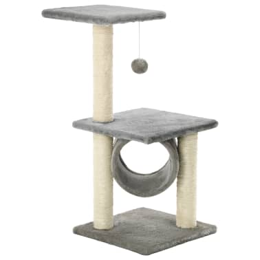 vidaXL kradsetræ til katte med sisal-kradsestolper 65 cm grå[2/5]