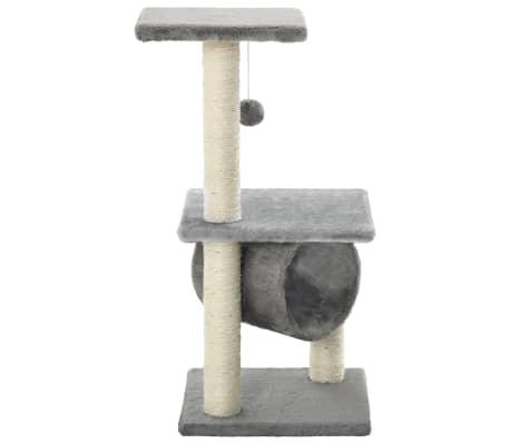 vidaXL kradsetræ til katte med sisal-kradsestolper 65 cm grå[3/5]