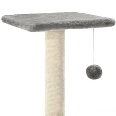 vidaXL kradsetræ til katte med sisal-kradsestolper 65 cm grå[4/5]