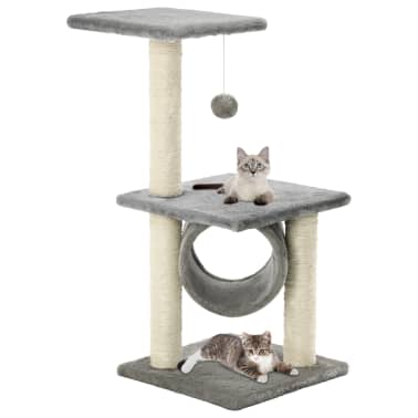 vidaXL kradsetræ til katte med sisal-kradsestolper 65 cm grå[1/5]