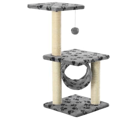 vidaXL Mačje drevo s praskalniki iz sisala 65 cm sive barve s tačkami[2/5]