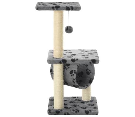 vidaXL Kissan raapimispuu sisal-pylväillä 65 cm tassunjäljet harmaa[3/5]