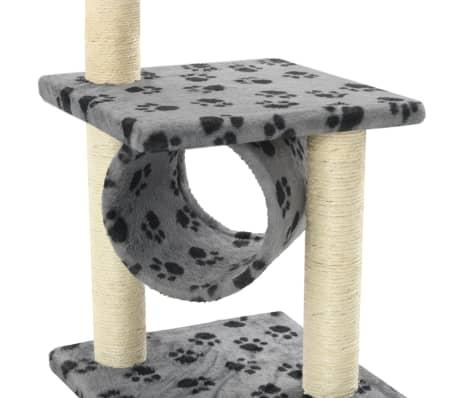 vidaXL Mačje drevo s praskalniki iz sisala 65 cm sive barve s tačkami[5/5]