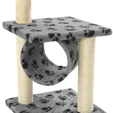 vidaXL Kissan raapimispuu sisal-pylväillä 65 cm tassunjäljet harmaa[5/5]