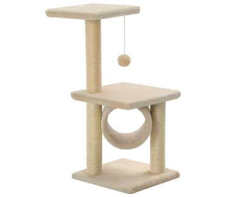 vidaXL Cat Tree with Sisal Scratching Posts 65 cm Beige