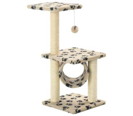 vidaXL kradsetræ til katte med sisal-kradsestolper 65 cm beige potespor[2/5]