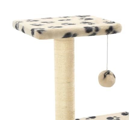 vidaXL kradsetræ til katte med sisal-kradsestolper 65 cm beige potespor[4/5]