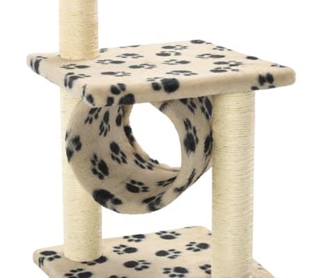 vidaXL kradsetræ til katte med sisal-kradsestolper 65 cm beige potespor[5/5]