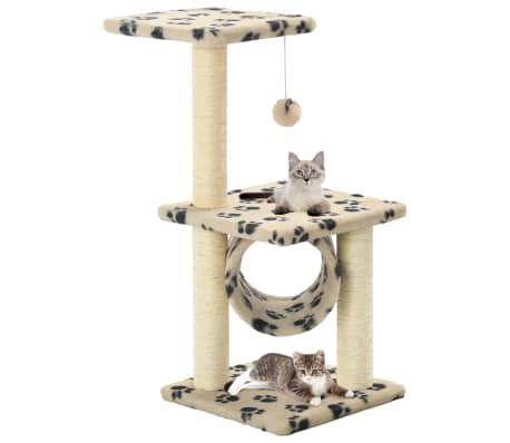 vidaXL kradsetræ til katte med sisal-kradsestolper 65 cm beige potespor[1/5]