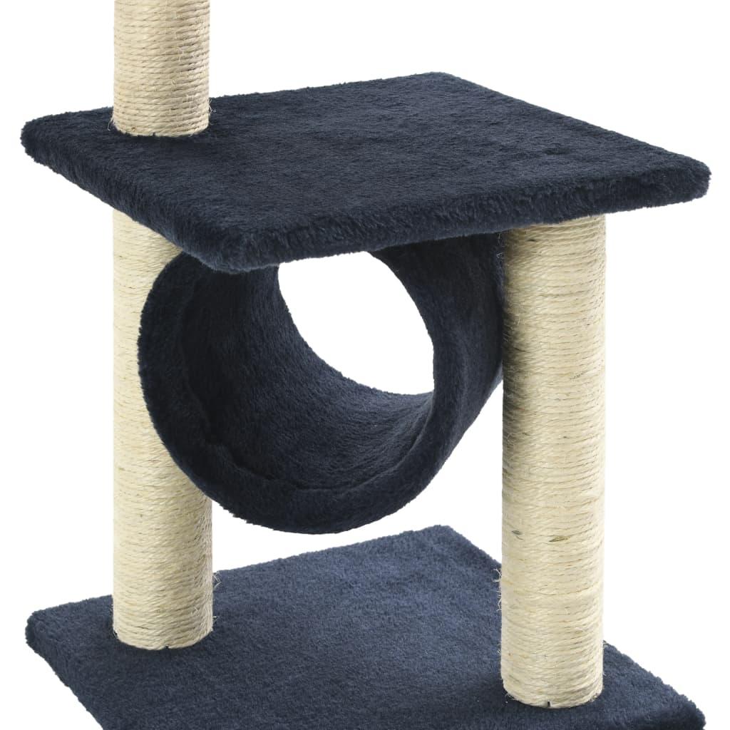 vidaXL Škrabadlo pro kočky se sisalovými sloupky 65 cm tmavě modré