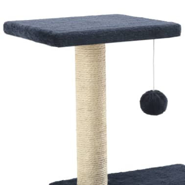 vidaXL Mačje drevo s praskalniki iz sisala 65 cm temno modre barve[4/5]