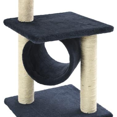 vidaXL Mačje drevo s praskalniki iz sisala 65 cm temno modre barve[5/5]