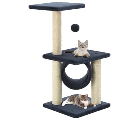 vidaXL Ansamblu pisici, stâlpi din funie sisal, 65 cm, bleumarin[1/5]