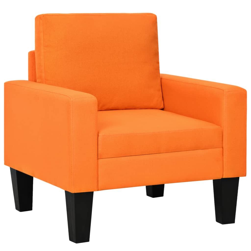 vidaXL Fotoliu, portocaliu, material textil poza vidaxl.ro