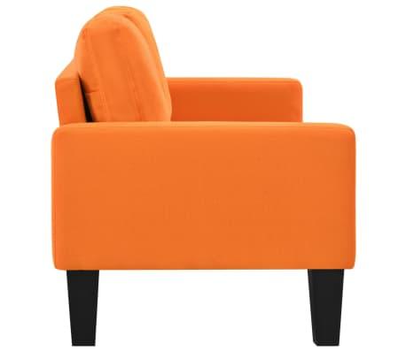 Vidaxl divano a 3 posti in tessuto arancione - Divano arancione ...