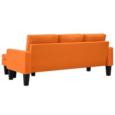 Vidaxl 3 sitzer sofa mit ottoman stoff orange im vidaxl for Sofa 4 sitzer stoff