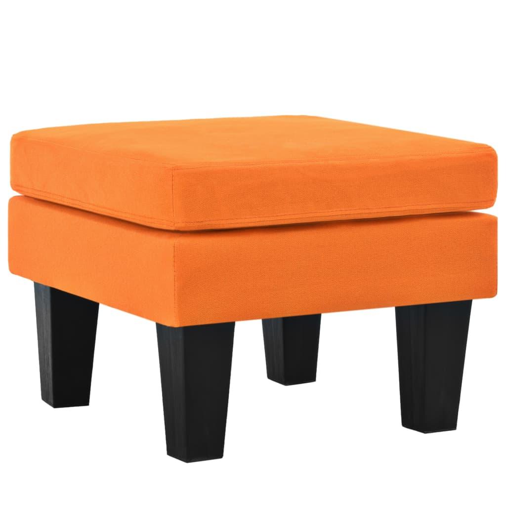 Afbeelding van vidaXL Hocker 53x53x41 cm stof oranje