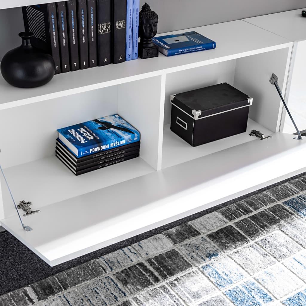 vidaXL Muebles de salón de TV con luces LED blanco brillante 8 piezas[6/16]