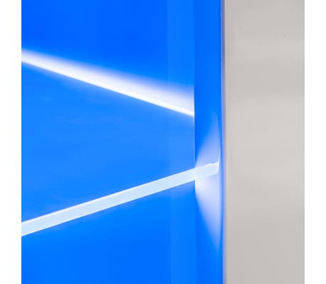 vidaXL TV-møbelsæt i 8 dele med LED-lys højglans hvid[12/16]