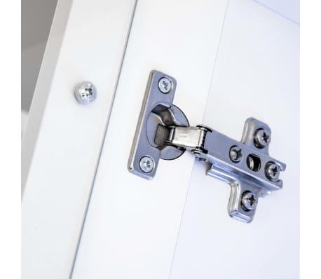 vidaXL TV-møbelsæt i 8 dele med LED-lys højglans hvid[13/16]