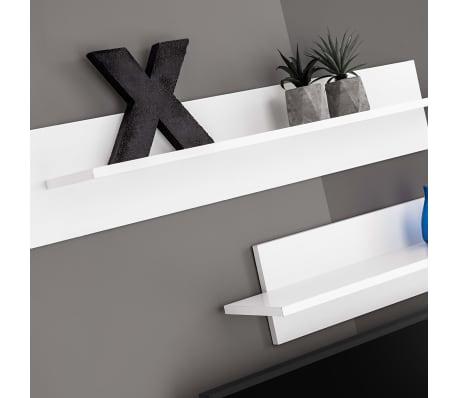 vidaXL TV-møbelsæt i 8 dele med LED-lys højglans hvid[7/16]