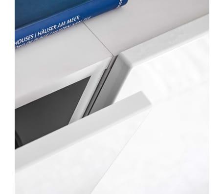 vidaXL TV-møbelsæt i 8 dele med LED-lys højglans hvid[10/16]
