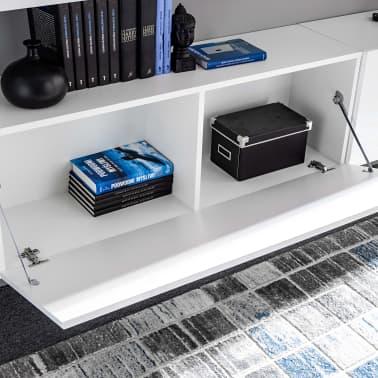 vidaXL TV-møbelsæt i 8 dele med LED-lys højglans hvid[6/16]