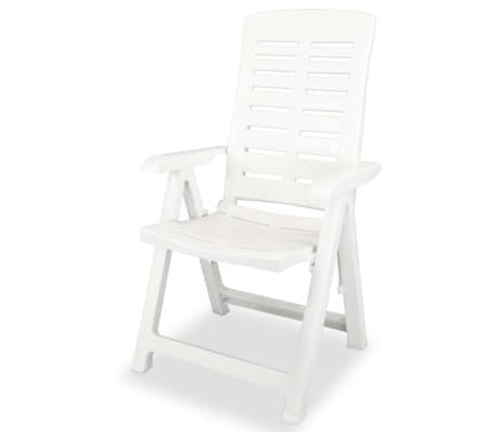 vidaxl verstellbare gartenst hle 6 stk 60x61x108 cm kunststoff wei g nstig kaufen. Black Bedroom Furniture Sets. Home Design Ideas