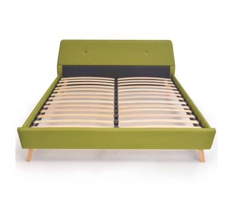 vidaXL Lit avec matelas Vert Tissu 140 x 200 cm[4/15]
