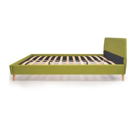 vidaXL Lit avec matelas Vert Tissu 140 x 200 cm[5/15]