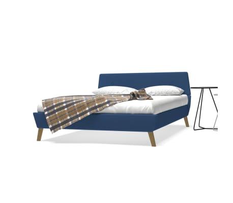 Bed 140x200 Met Matras.Vidaxl Bed Met Matras Stof Blauw 140x200 Cm Online Kopen Vidaxl Nl
