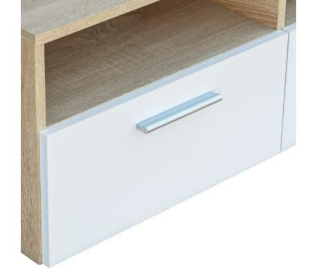 vidaXL Tv-meubels 95x35x36 cm spaanplaat eikenkleurig en wit 2 st[5/6]