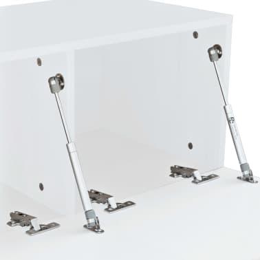 vidaXL TV-Schränke 2 Stk. Spanplatte 120 x 40 x 34 cm Hochglanz Weiß[5/6]