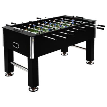 vidaXL Stalo futbolo stalas, plienas, 60 kg, 140x74,5x87,5cm, juodas[1/11]