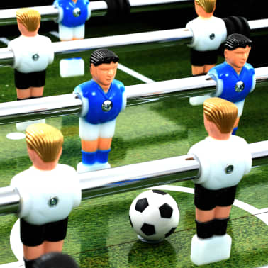 vidaXL Table de football Acier 60 kg 140 x 74,5 x 87,5 cm Noir[6/11]