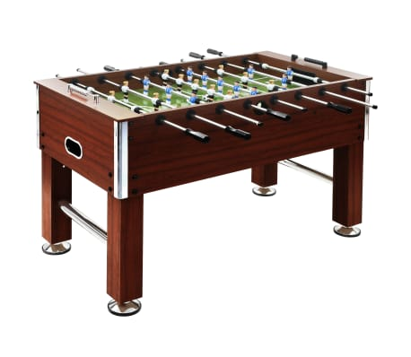 vidaXL Football Table Steel 60 kg 140x74.5x87.5 cm Brown