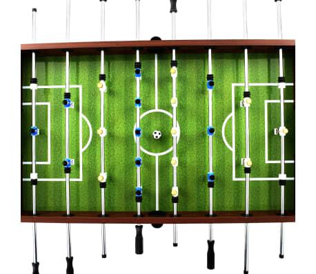 vidaXL Stalo futbolo stalas, plienas, 60 kg, 140x74,5x87,5cm, rudas[4/11]