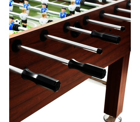 vidaXL Stalo futbolo stalas, plienas, 60 kg, 140x74,5x87,5cm, rudas[7/11]