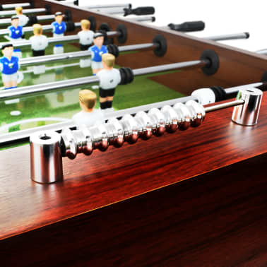 vidaXL Stalo futbolo stalas, plienas, 60 kg, 140x74,5x87,5cm, rudas[8/11]