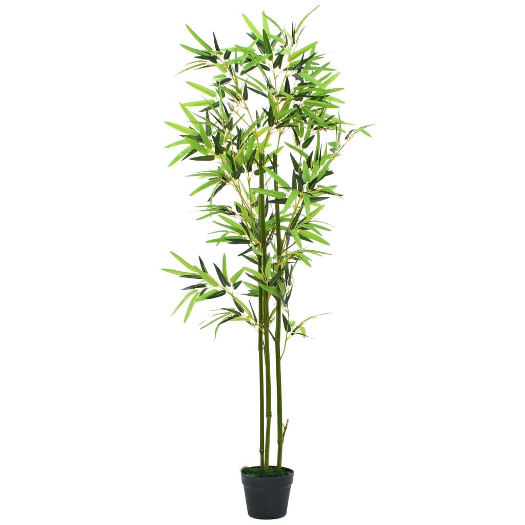 Kunsttaim bambus potiga 150 cm, roheline