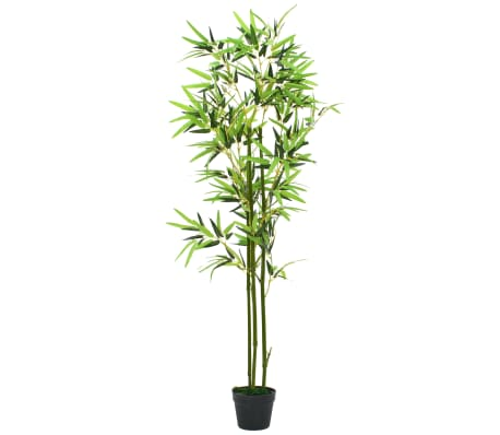 vidaXL Artificial Bamboo Plant with Pot 150 cm Green