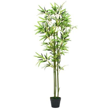 vidaXL kunstig bambusplante med krukke 150 cm grøn[1/3]